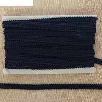 Тесьма декоративная завиток большой, ширина 1,2см, 10м, цвет синий
