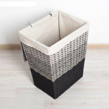 Корзина для белья плетеная прямоугольная 32х23х44 см