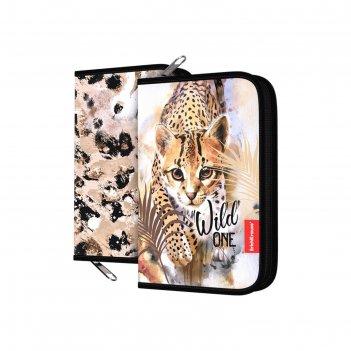 Пенал 1 секция 135*205 ткань erichkrause wild cat 48505