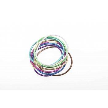 Резинки для волос dewal beauty цветные блестящие , midi (8 шт.)