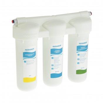 Фильтр для воды аквафор трио норма, 3-х ступенчатый, с краном, 2 л/мин