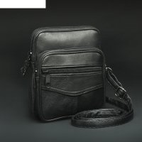 Сумка поясная, отдел на молнии, 2 наружных кармана, длинный ремень, цвет ч