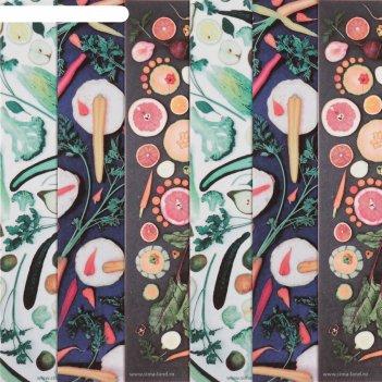 Бумага для творчества «овощная грядка», 6 шт, 16 x 16 см