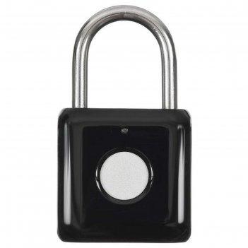 Умный замок digma smartlock p1, навесной, разбл.отпеч.пальца, 100мач, черн