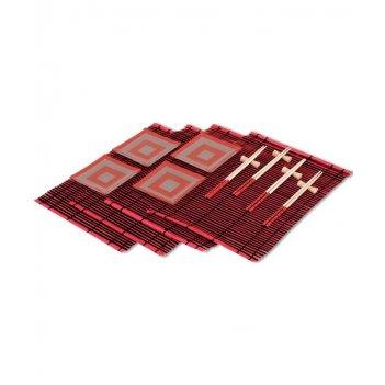 ds-4ps-4 набор для суши на 4 персоны красный куб