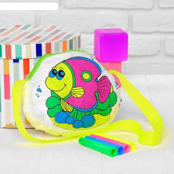 Сумка-раскраска «рыбка» (без маркеров) в пакете