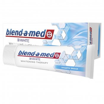 Зубная паста blend-a-med 3d white whitening therapy защита эмали, 75 мл
