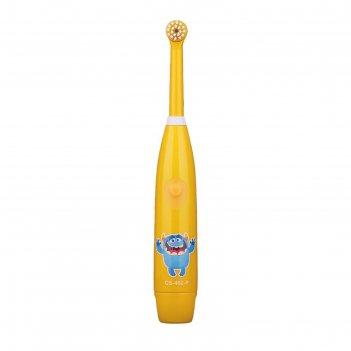 Электрическая зубная щётка cs medica kids cs-462-p, ааах2, доп.насадка, ор