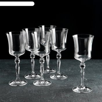 Набор бокалов для вина 185 мл грация, 6 шт