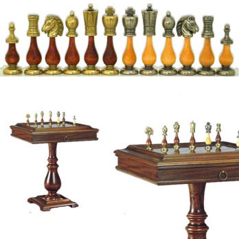 Стол шахматный «классика» с фигурами