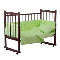 Комплект в кроватку 4 предмета горошки зеленый 10403