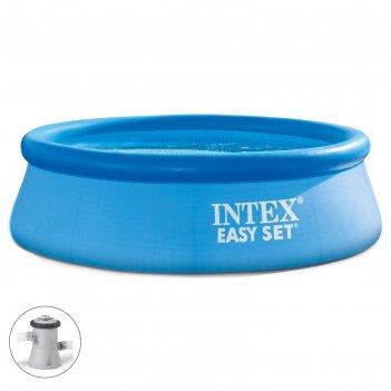 Бассейн надувной easy set 244х76 см (в комплекте: насос с фильтром 220v)