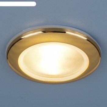 Светильник elektrostandard mr16 gu5.3 1080 золото, пылевлагозащищенный ip4