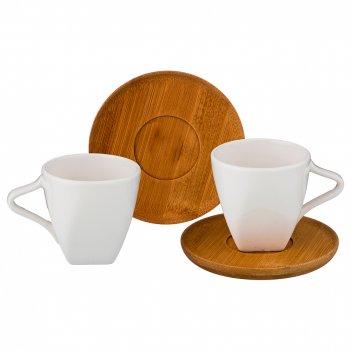 Кофейный набор на 2 персоны 4пр. 90 мл (кор=24шт.)
