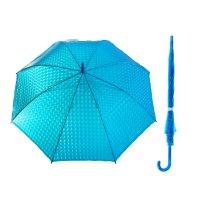 Зонт-трость, полуавтомат, r=55см, цвет синий