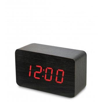 Ял-07-05/ 5 часы электронные сред. (чёрное дерево с красной подсветкой)