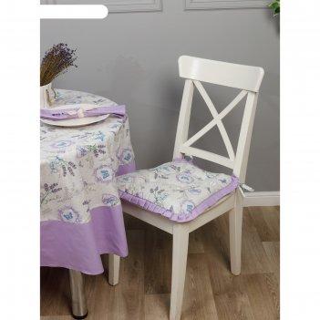 Подушка на стул трапеция с рюшами, размер 42 x  42 см-2 шт