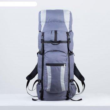 Рюкзак туристический, 100 л, отдел на шнурке, наружный карман, 2 боковые с