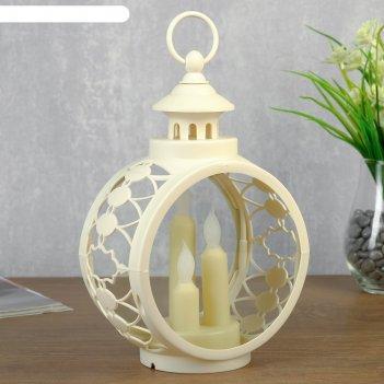 Ночник свечи led белый 9,7х16,5х25 см