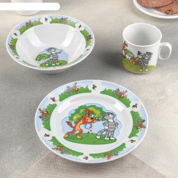 Набор посуды детский простоквашино, 3 предмета