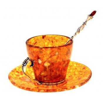 Кофейный набор из янтаря (на 3 персоны)