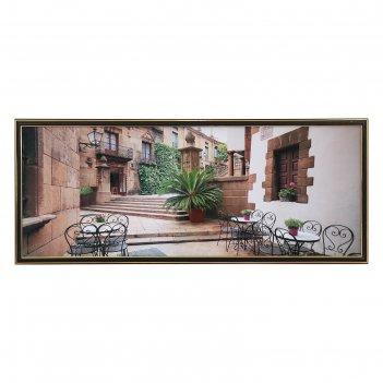 Картина кафе в переулке