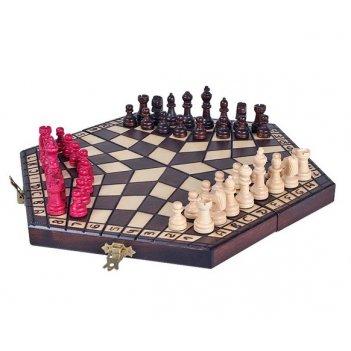 Шахматы на троих средние 35х35см польша