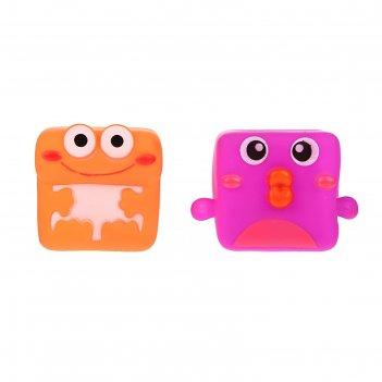 Набор игрушек для ванны «квадратушки №1», 2 шт., микс