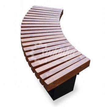Садово-парковая скамейка «радиус» 1,0 м.п.