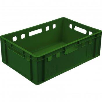 Ящик мясной е2, сплошной, 600х400х200 зеленый калиброванный 2,0 кг