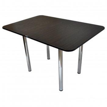 Стол обеденный ломберный с ящиком 1200/600х700х750 хром венге