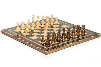 Шахматы + нарды инкрустация 60, zeynalyan 61х61см
