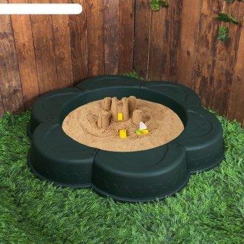 Ограждение для клумбы ромашка, цвет темно-зеленый, внутренний d=90 см