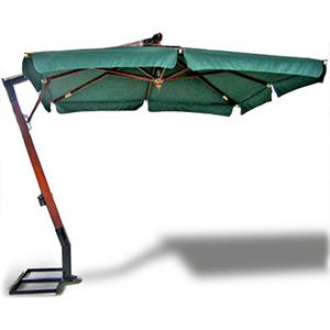 Садовый зонт квадратный с боковым кантом 3х3м (зеленый или белый)