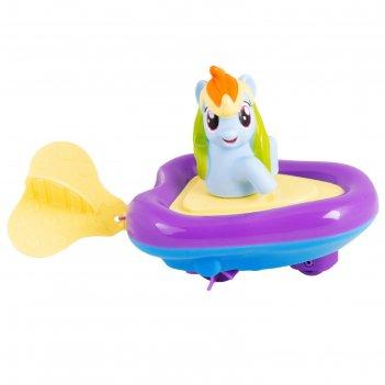Игровой набор для ванны «мой маленький пони. рейнбоу дэш» в заводной лодоч