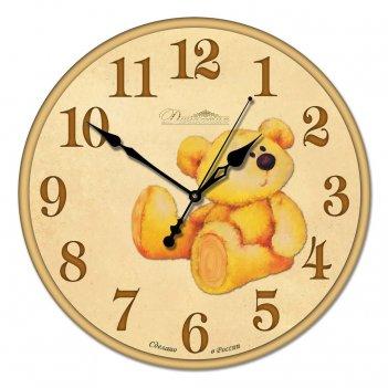 Настенные часы из стекла династия 01-009 медвежонок