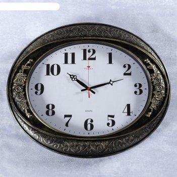 Часы настенные, серия: классика, самвана, горизонтальные, черное золото, 6