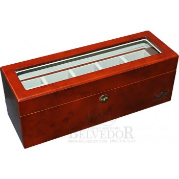 Шкатулка для хранения 5 часов luxewood арт.lw801-5-3