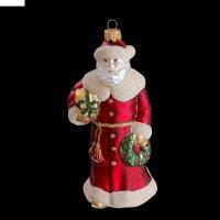 Игрушка елочная дед мороз с подарками