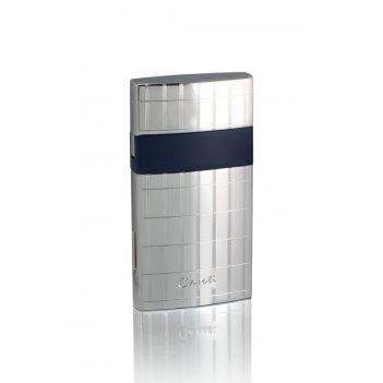Зажигалка caseti газовая турбо, покрытие хром с гравировкой +