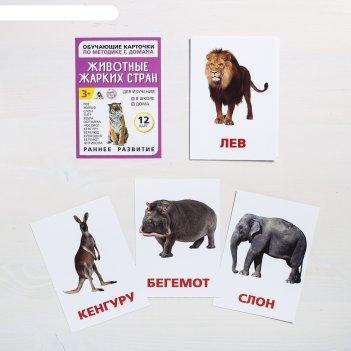 Обучающие карточки по методике г. домана животные жарких стран