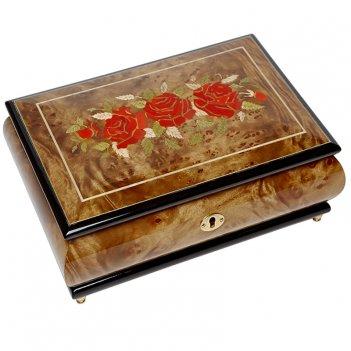 Шкатулка для ювелирных украшений музыкальная, арт. aw-02-074