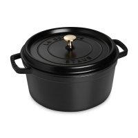 Кокот круглый, объем: 6,7 л, диаметр: 28 см, материал: чугун, цвет: черный