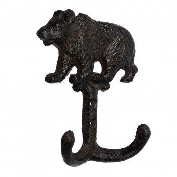 Крючок «медведь»,10 x 14 x 4 см, чугун