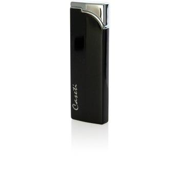 Зажигалка caseti газовая пьезо, сплав цинка, черный лак, 2,5х0