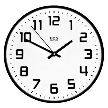 Настенные часы b&s shc-251 pem(bl)