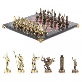 Шахматы греческая мифология доска 360х360 мм креноид змеевик м