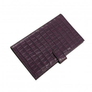 Визитница v-47-67, 11*1,8*19,5, лист на 3 визитки, 72 визитки, фиолетвый