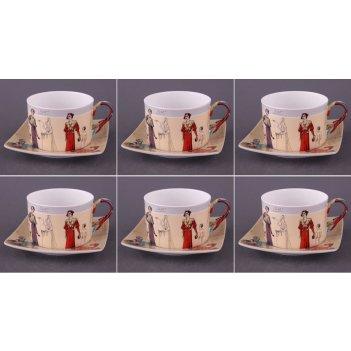 Чайный набор на 6 персон 12 пр. 180 мл (кор=6набор.)