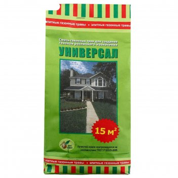 Семена газонная трава в бумажном пакете универсал, 0,5 кг